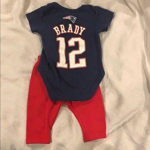 Little Brady Fan Patriots outfit
